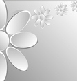 paper flowers on white background vector image