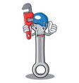 plumber spanner character cartoon style vector image