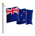 waving new zealand flag isolated on a white vector image