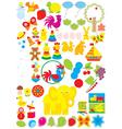 Simple objects for kindergarten vector image vector image
