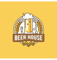 Beer house Brewing company vector image