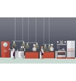 banner with restaurant interiors Chefs vector image