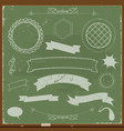chalkboard banners and design elements vector image