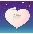 Paper heart in the clouds background for your vector image