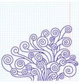 curled doodles vector image vector image