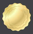 gold medal that can be used as a seal the price vector image