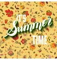 It is summer time boho lettering background vector image