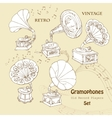 Background with gramophones vector image