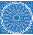 blue decorative mandala circle vintage arabic vector image