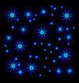 bright stars for christmas vector image