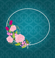 Card with Flowers vector image