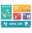 Dental office interior background vector image