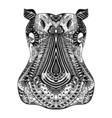 Hippo zentangle stylized vector image