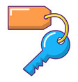 room key at hotel icon cartoon style vector image