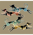 running animals vector image