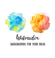 Set of abstract watercolor backgrounds Watercolor vector image