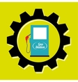 signal of gasoline isolated icon design vector image