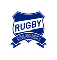 rugby champions shield vector image