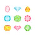 Colorful Geometric Diamonds vector image