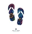 holiday fireworks flip flops silhouettes pattern vector image