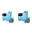 Blue dog vector image