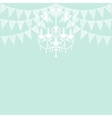 lace bunting vector image vector image