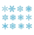 blue snowflakes isolated on a white background vector image