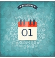 Flat calendar iconManagement concept with web vector image