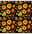 Floral seamless pattern in slavic country style vector image