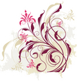 Floral vine graphic vector image