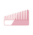 hairdressing brush accesory vector image