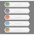 Horizontal trendy Design template vector image