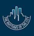 logo rhythms of the city at night vector image