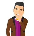 Man suffering from tooth pain vector image