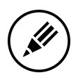 pencil icon - iconic design vector image