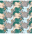 Seamless angry man with axe pattern vector image