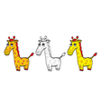 Cute cartoon giraffe vector image vector image