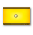 video player interface play bar design vector image