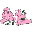 Cartoon Piggy Banks vector image