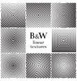 Concentric lines circular and square spiral vector image