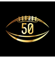 American Football 50 Icon vector image