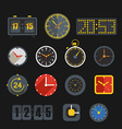Different slyles of clock collection vector image vector image