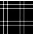 Black and white tartan traditional fabric seamless vector image