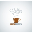 coffee cup flavor design background vector image vector image