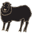 black sheep vector image