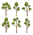 Cartoon Tree Set vector image
