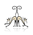 Graceful siamese cats for your design vector image