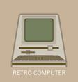 retro computer flat vector image