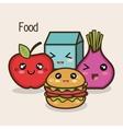 set cartoon food design vector image