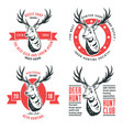 set of logos deer vector image